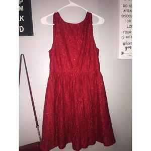 Red Sequenced Dress